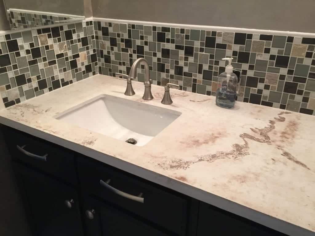 Brown Cast Concrete Bath Vanity