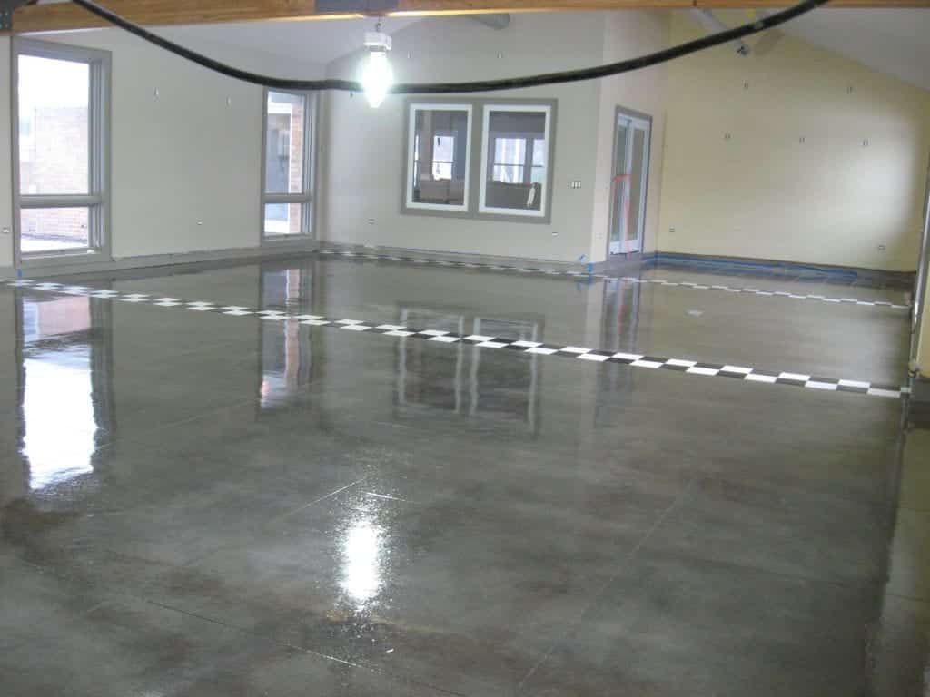 Gray Epoxy Metallic Floor
