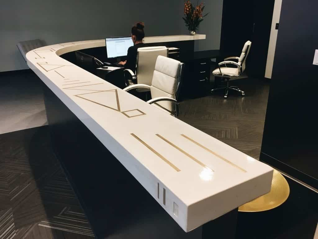 Light Tan Concrete Commercial Desk