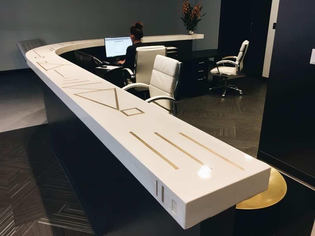 Light Tan Concrete Commercial Desk