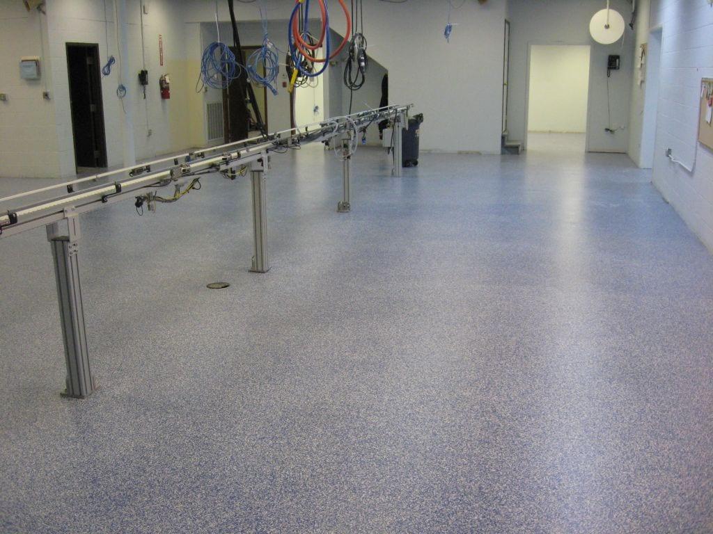 Commercial Gray Flake Epoxy Floor