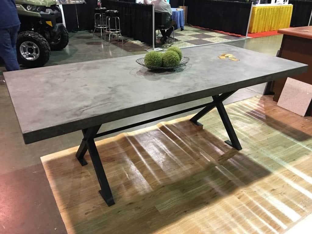 Gray Concrete Picnic Table