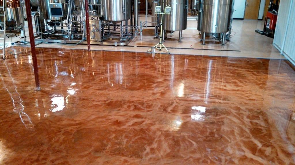 Epoxy Metallic Micro Brewery Floor
