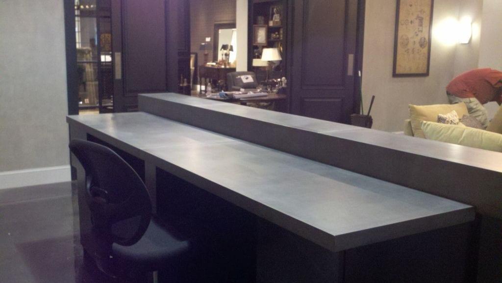 Home Office Concrete Desk Work Space