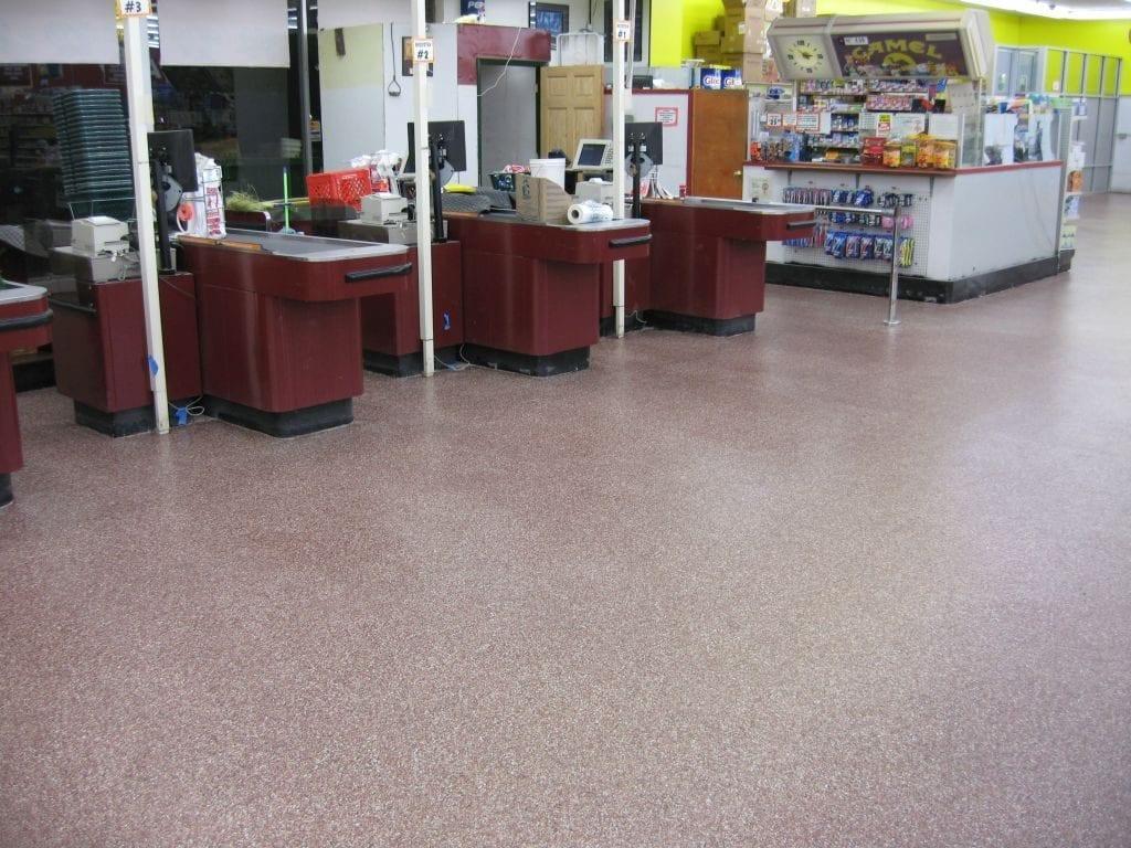 Grocery Store Decorative Epoxy Flake Floor