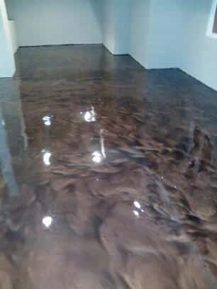 Epoxy floor coating system project photos