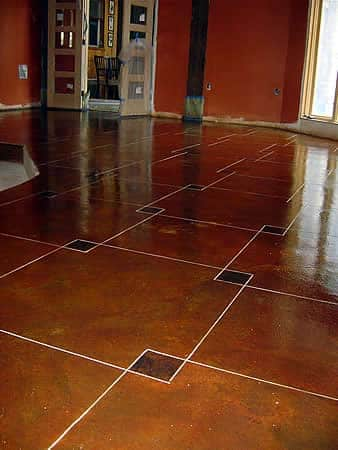 MicroTopping and EcoStain combine to create this beautiful basement floor