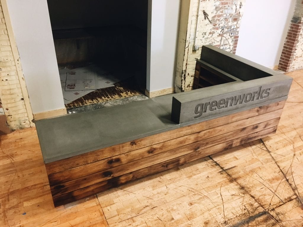 Dark Gray Concrete Desk GFRC