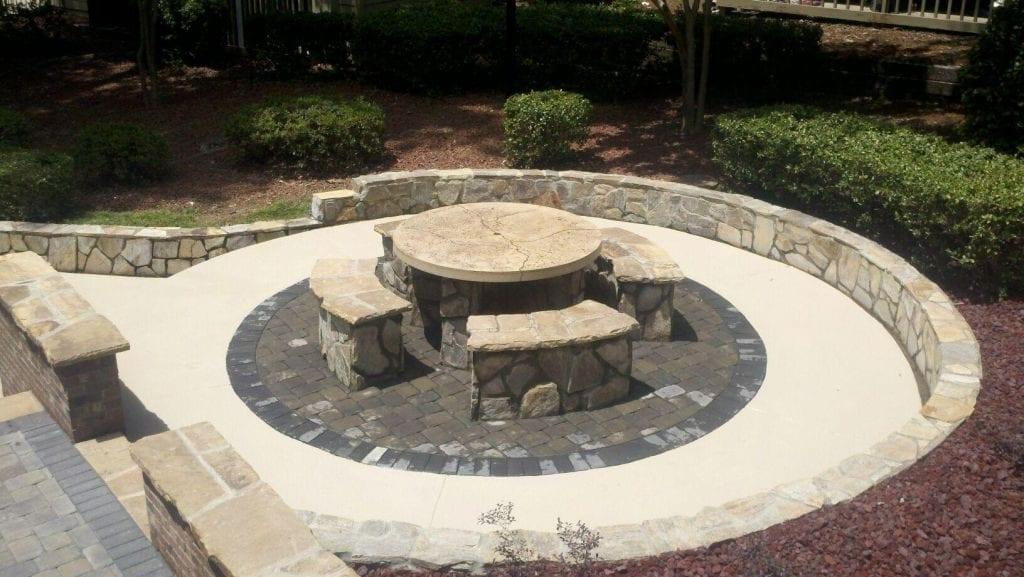 Light Tan Concrete Cast Outdoor Area
