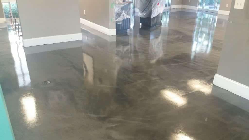 Brown Metallic Store Floor Epoxy