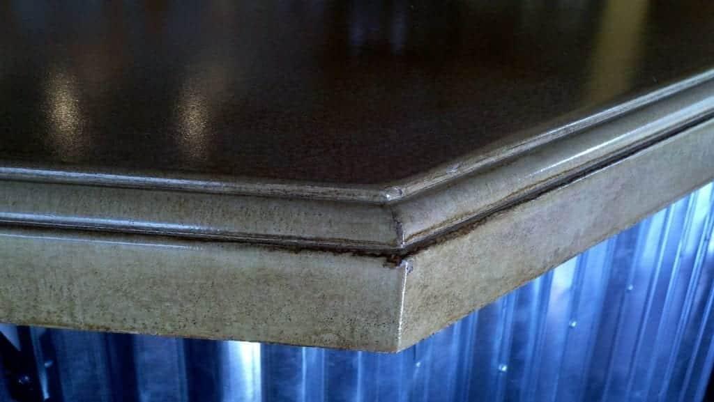 Gray Concrete Countertop Edge Profile