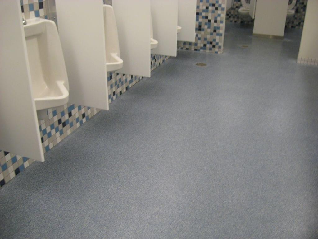 Commercial Epoxy Quarts Restroom Flooring