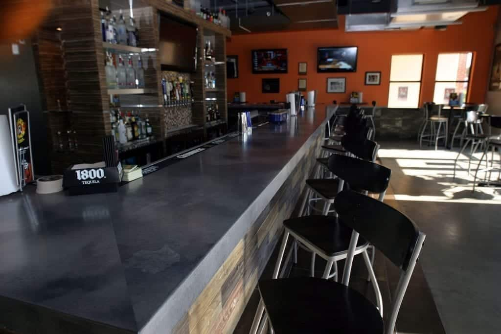 Large Dark Gray Concrete Bar Top Commercial