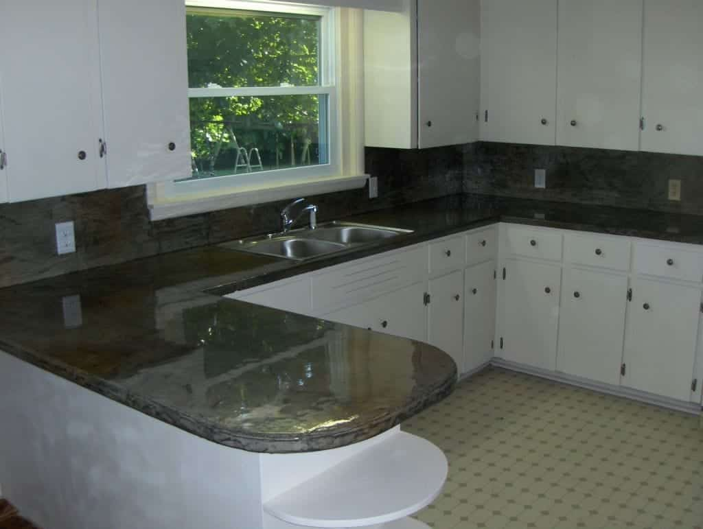 High Gloss Marble Looking Concrete Countertop