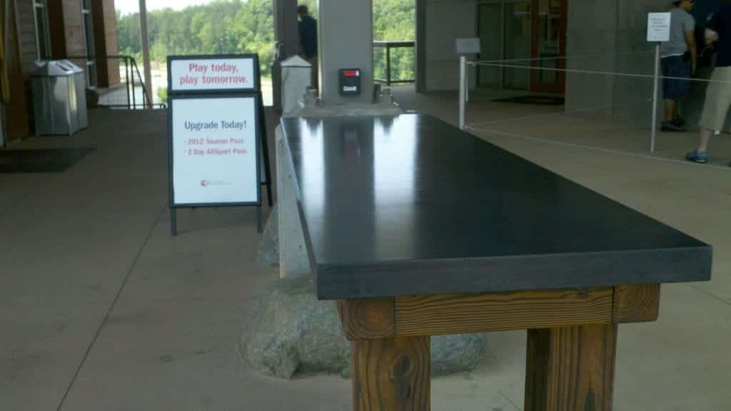 Gloss Concrete Gray Table