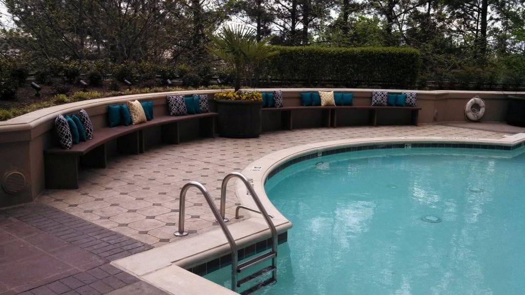 Tan Cast Concrete Pool Edge