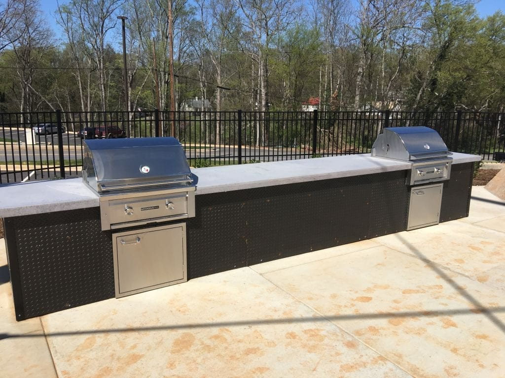 Large Gray Outdoor Concrete Countertop