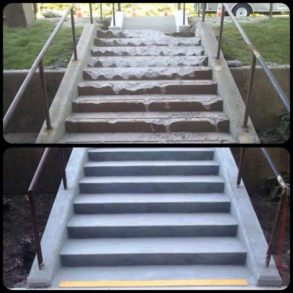 Concrete Repair Products Stairs and Sidewalk