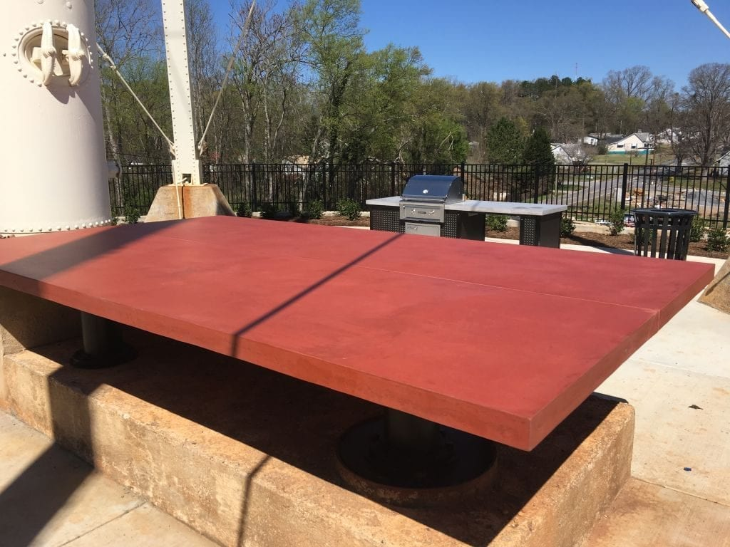 Red Concrete GFRC Table