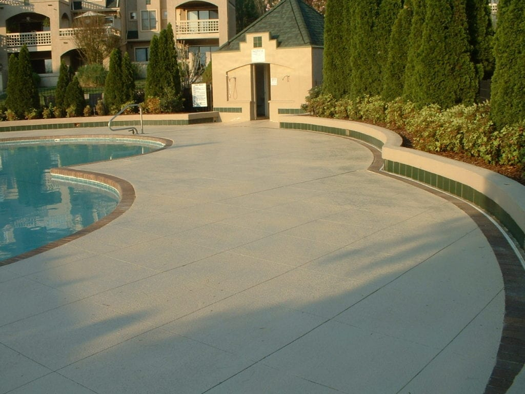 Large Pool Deck Concrete Overlay Photo