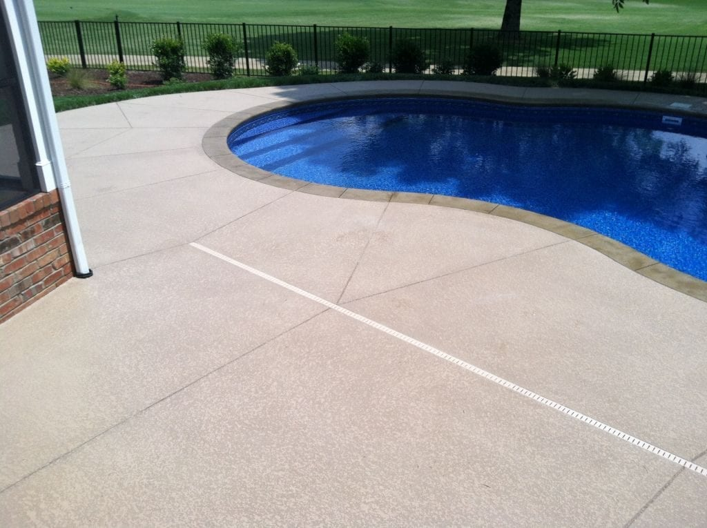 Pool Deck Tan Concrete Overlay Photo