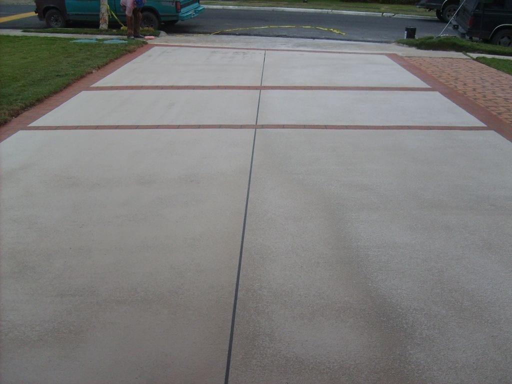 Driveway Concrete Overlay Photo