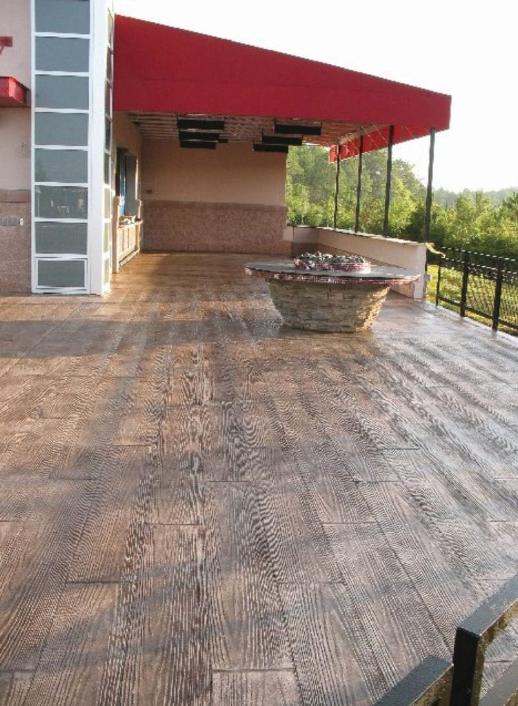 Large Patio Stamped Concrete Overlay Photo