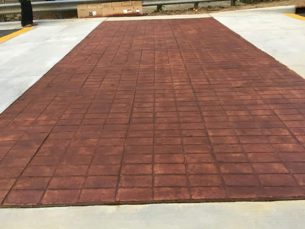 Brick Stained Looking Concrete