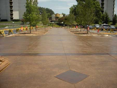 Large Brown Stained Sidewalks Commercial