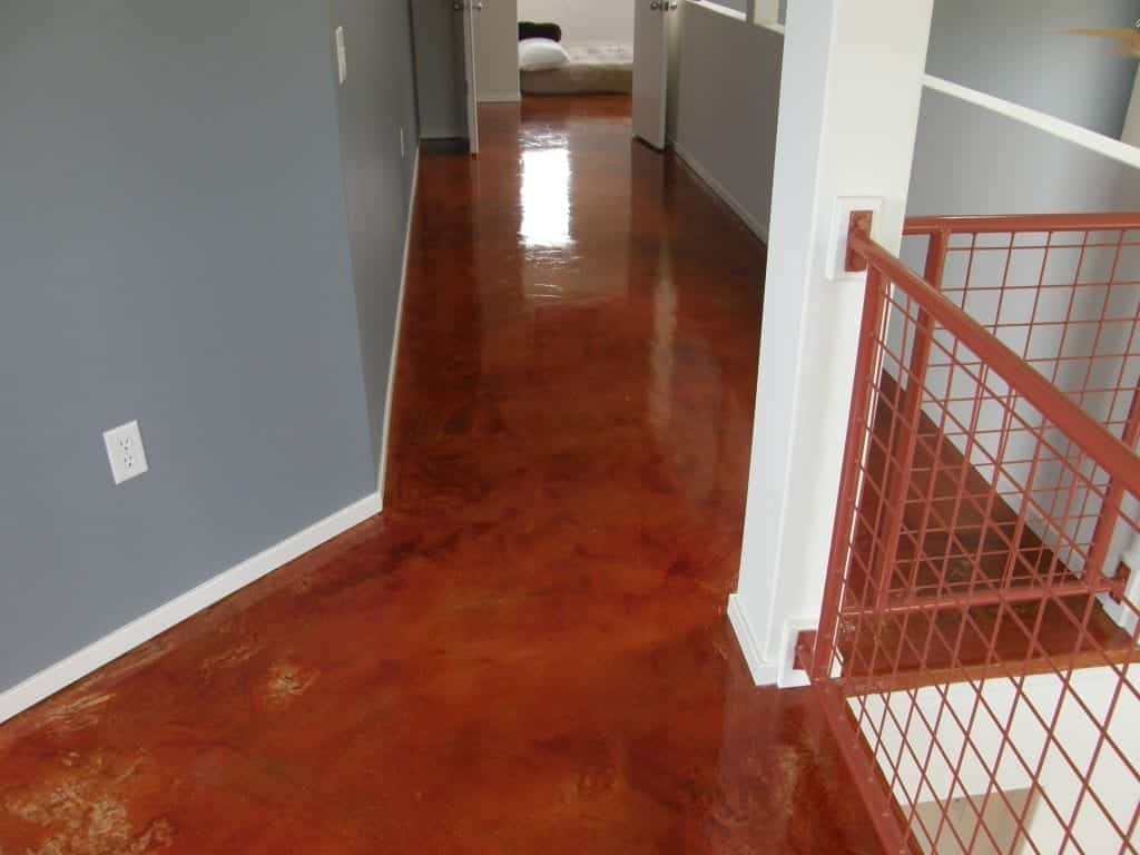 High Gloss Res Stained Hallway Floor