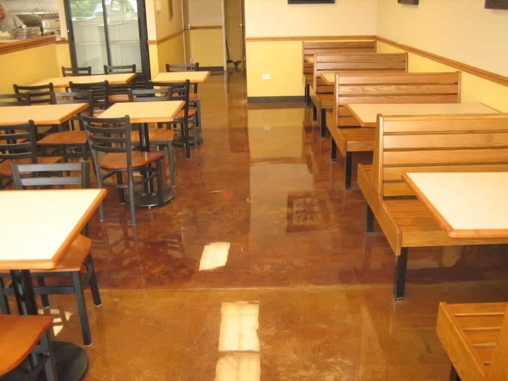 Brown Restaurant Floor