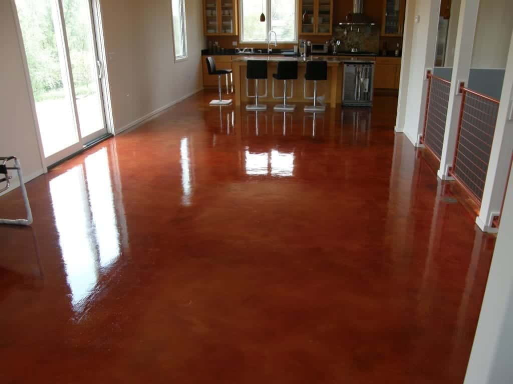 High Gloss Red Wine Looking Concrete Floor