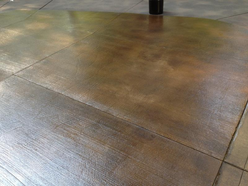 Concrete Wood Looking Floor Stained Brown