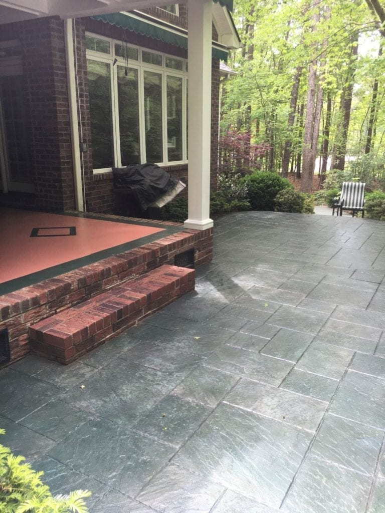 Gray Stained Front Deck