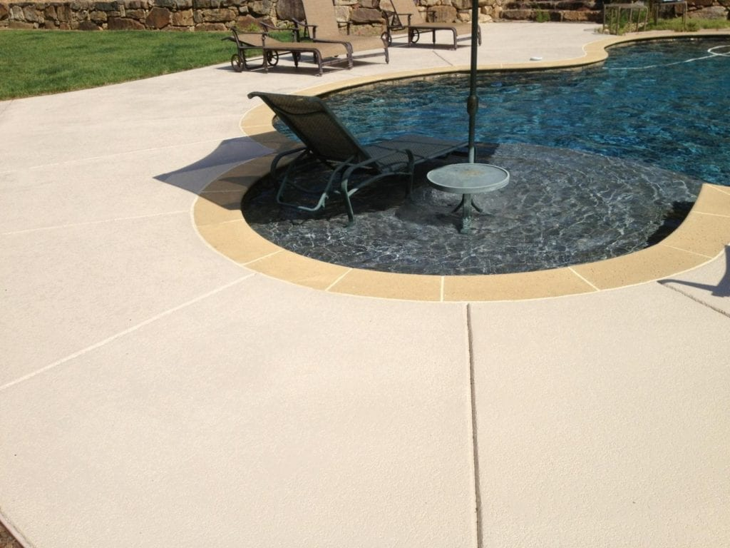 Light Tan Concrete Overlay Photo