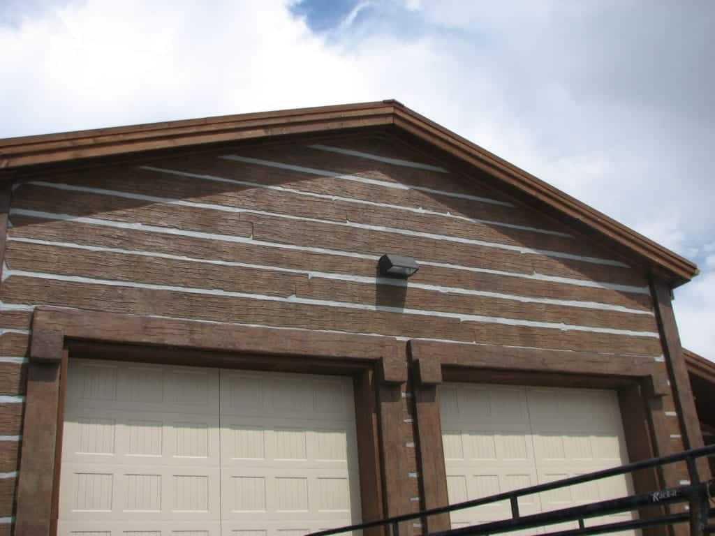 Concrete Stamped Garage Vertical Overlay Photo