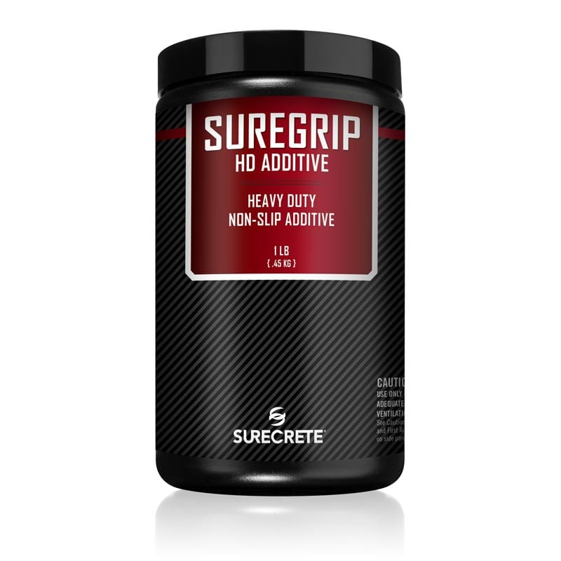 SureGrip Heavy Duty Traction Additive to make concrete sealer non slip traction additive for concrete driveway sealer. Shark grip type non slip safe traction additive for concrete patio sealer.