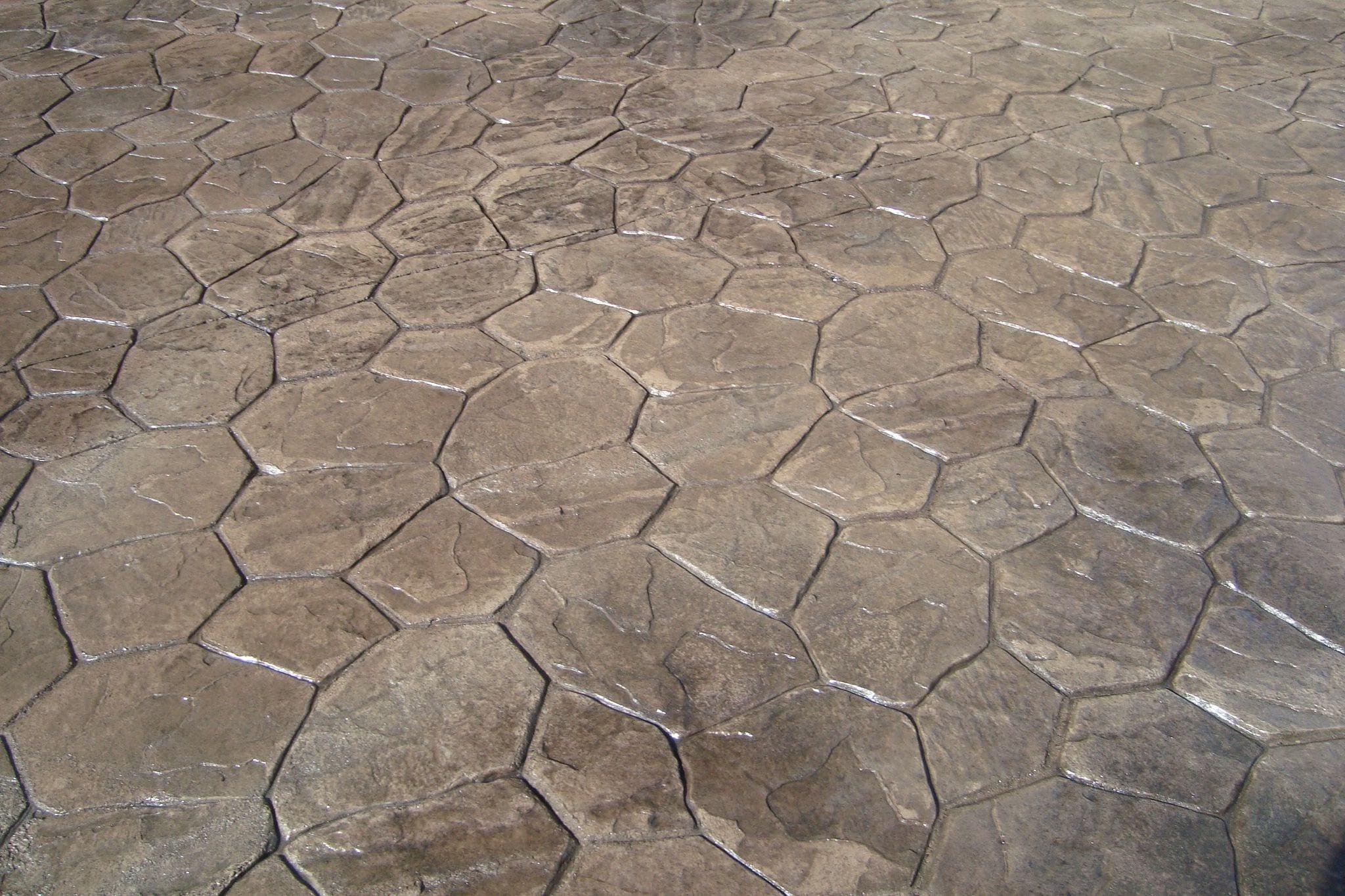 Random Stone Stamped Concrete Rental