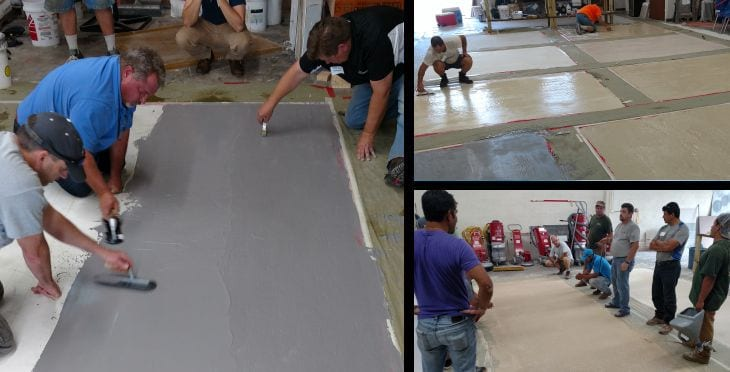 Concrete overlay training | thin cement overlay class | Charlotte North Carolina