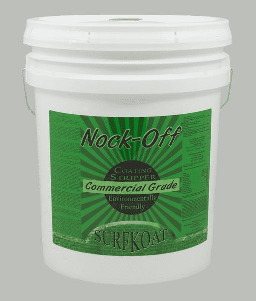 Nock Off Concrete Coatings Stripper. Safe concrete sealer remover. Concrete floor paint stripper. How to remove concrete coatings, how to remove concrete paint, and how to remove concrete sealer. Concrete preparation chemical product.
