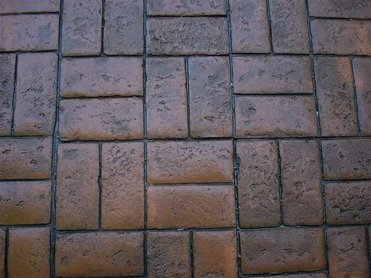 Stamp Brick Basketweave