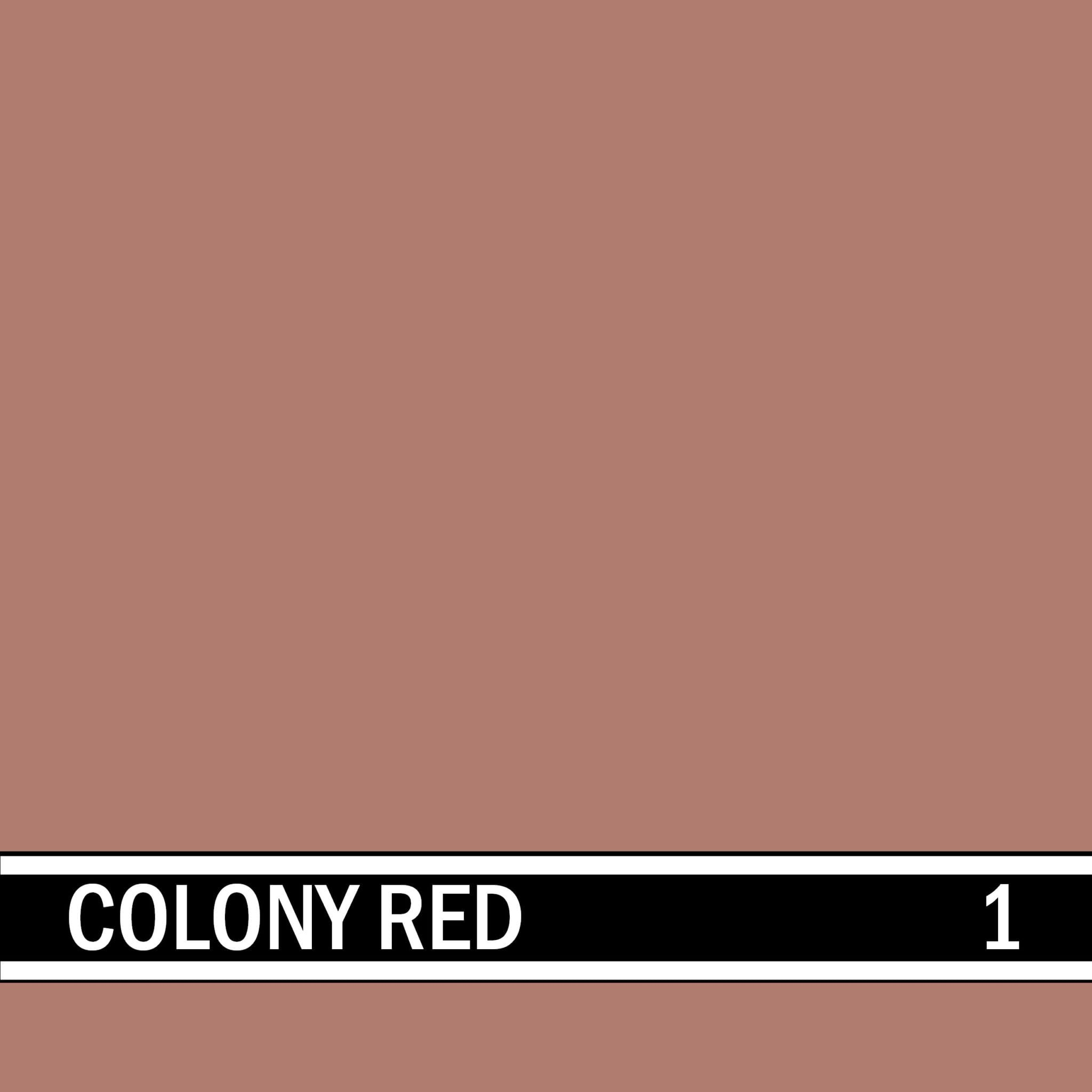 Colony Red integral concrete color for stamped concrete and decorative colored concrete