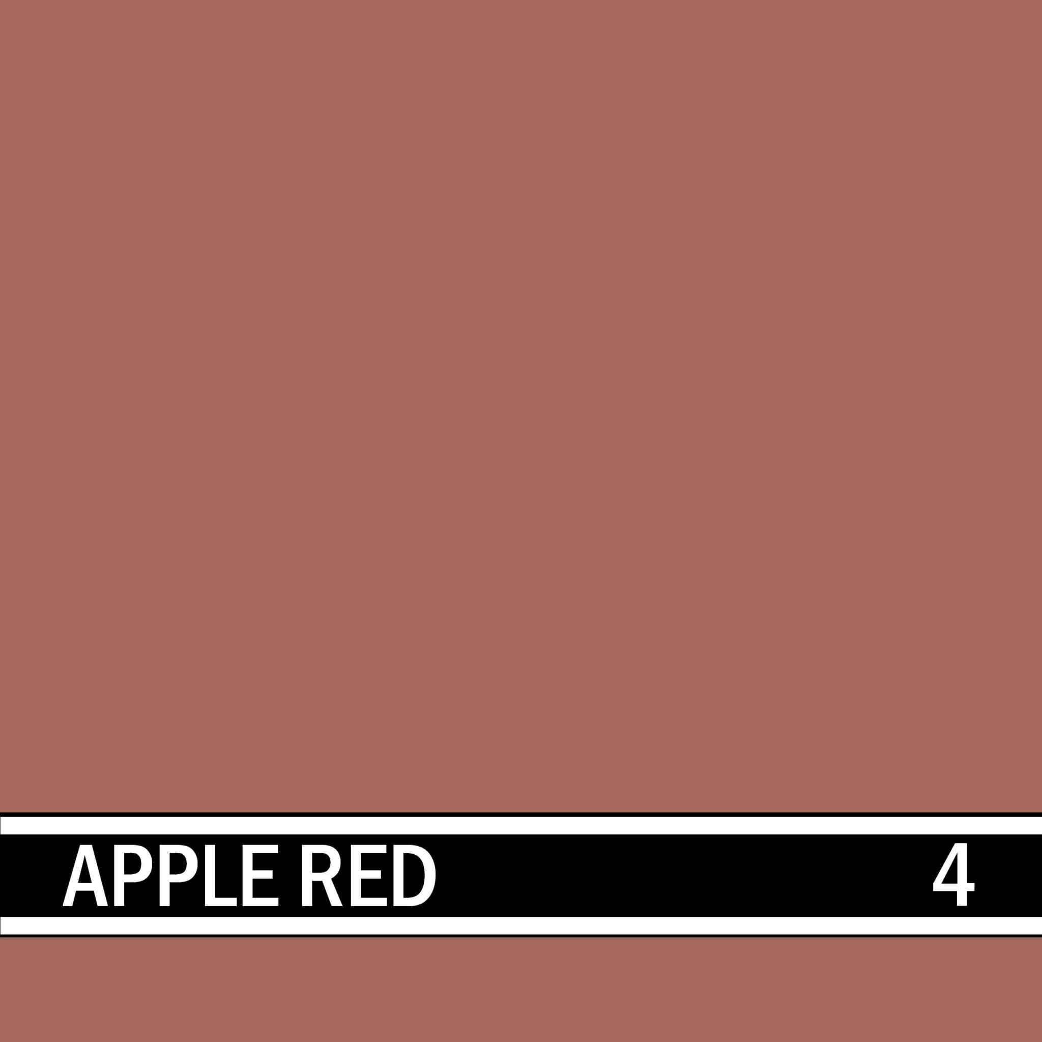 Apple Red integral concrete color for stamped concrete and decorative colored concrete