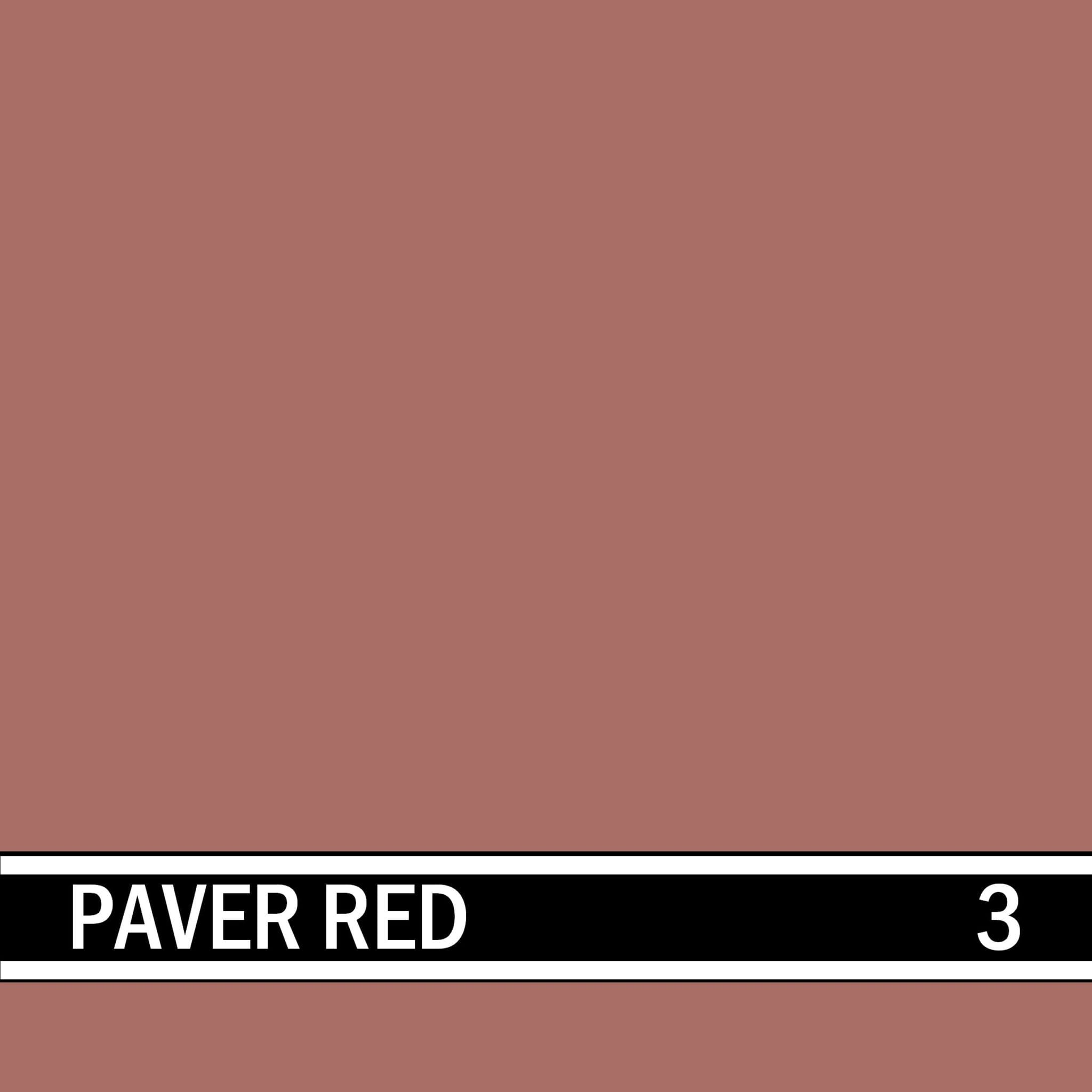 Paver Red integral concrete color for stamped concrete and decorative colored concrete