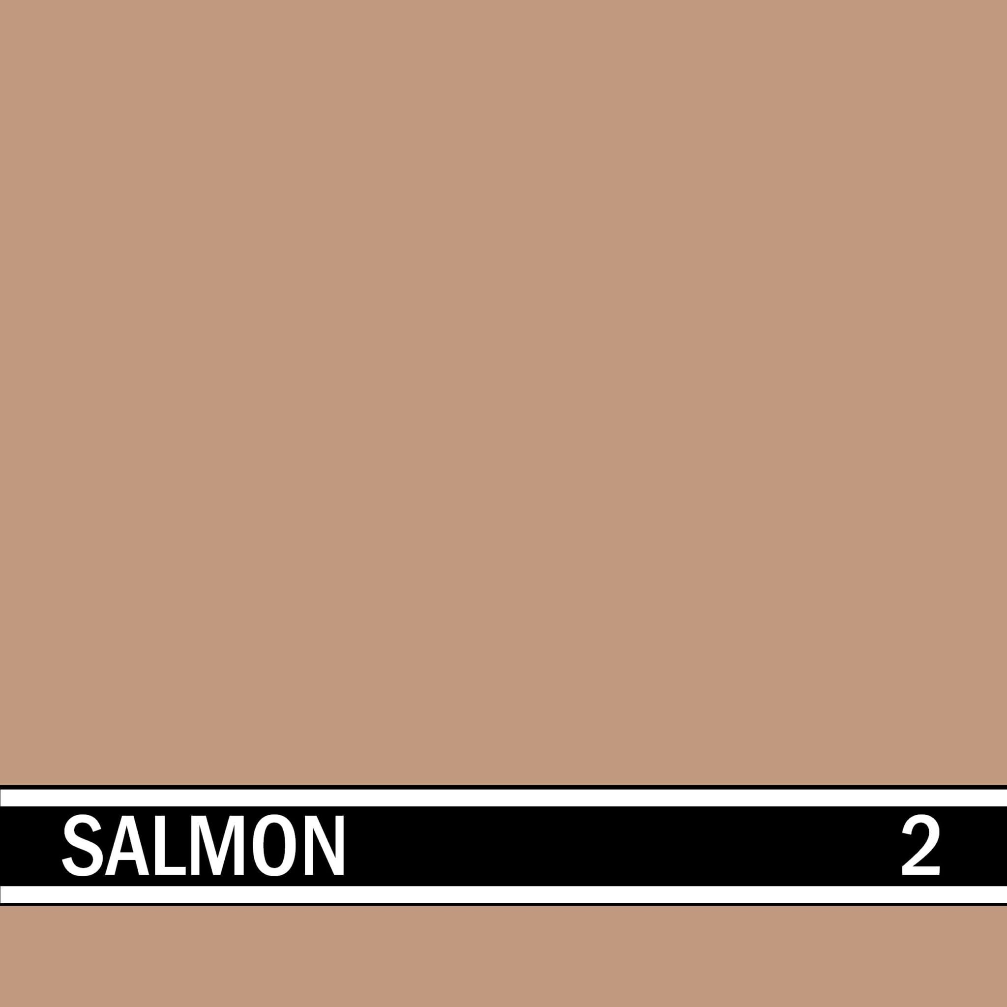 Salmon integral concrete color for stamped concrete and decorative colored concrete