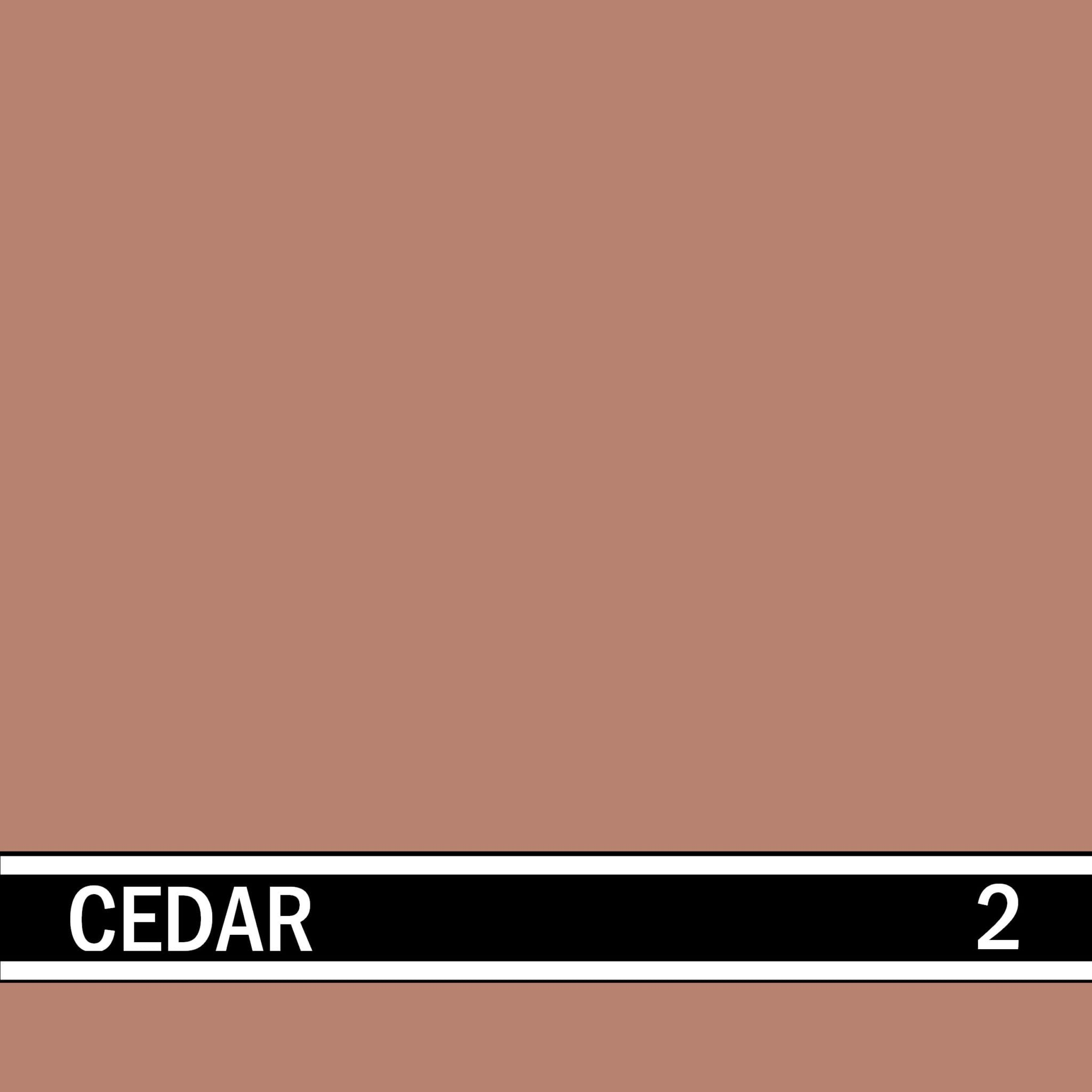 Cedar integral concrete color for stamped concrete and decorative colored concrete