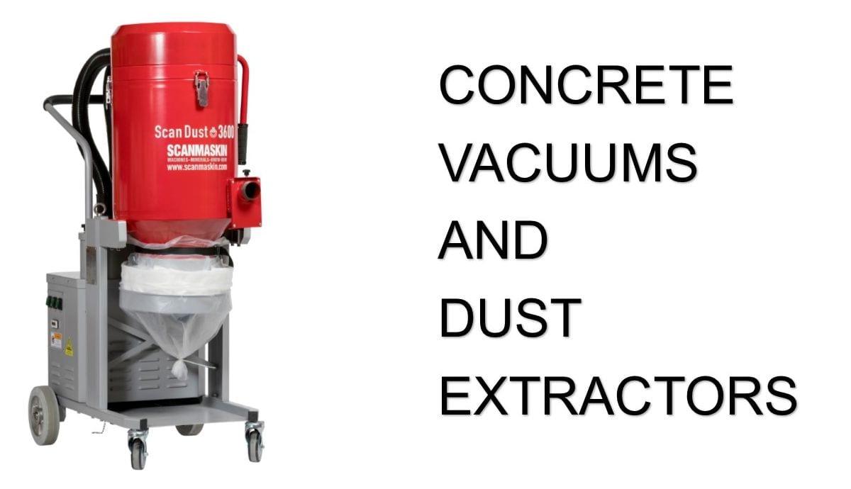 Concrete Grinder Industrial Vacuum Dust Extractors