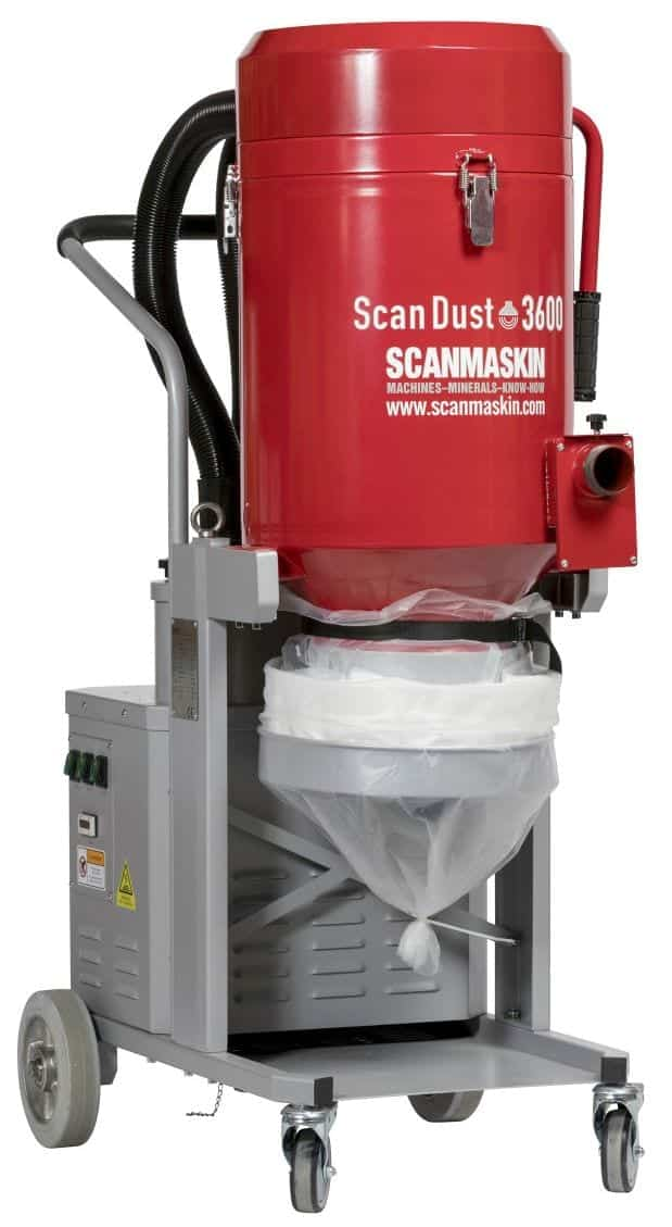 Scanmaskin Scan Dust 3600 Industrial Concrete Dust Extractor Vacuum System for Large Concrete Grinders