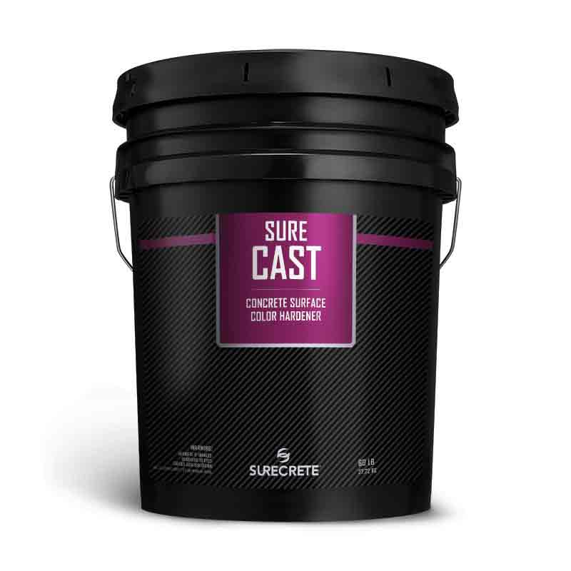 SureCrete SureCast Dry Shake Color Hardener for Colored Concrete Powder. Shake on color hardener for colored concrete. Dry powder color for concrete projects in Charlotte and Raleigh North Carolina