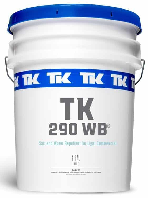 TK290 Water Base Siloxane Formula to waterproof concrete and prevent concrete stains. TK290 protects concrete from salt damage and ice melt damage by keeping water out of concrete.